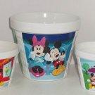 3 Disney Mickey & Minne Mouse Ceramic Planter Flower Pot Pots Plant