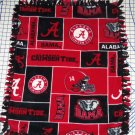 Alabama Crimson Tide Bama Fleece Blanket Hand Tied Baby Pet Dog Lap NCAA College