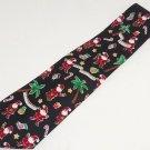 Merry Christmas Mens Neck Tie Necktie Santa Palm Trees  Candy Cane John Henry