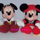 2 Disney Mickey  Minnie Mouse Pirates Plush Stuffed Toy