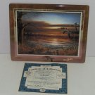 Terry Redlin Tranquil Retreats Plate Collector Reflections Sunset Bird Lake Tree