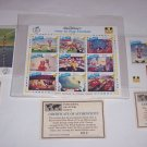 Walt Disney Postage Stamps Goofy Cartoon How Play Football St Vincent 3 Sheets