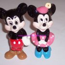 2 Walt Disney Productions Minnie Mickey Mouse Japan Vintage Ceramic Figurine