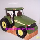 John Deere Tractor Cookie Jar Cookies Ceramic Gibson Farmer Green Yellow