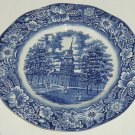Liberty Blue Dinner Plate Independance Hall England Staffordshire Vintage