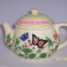 Teapot Harry David Butterflies & Flowers Ceramic Collectors Limited Edition