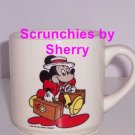 Walt Disney Company Mickey Mouse Coffee Mug Vintage Retired 1986