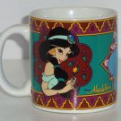 Disney Princess Jasmine Coffee Mug Aladdin Genie Cup Tea Soup Retired