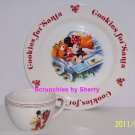 Disney Store Cookies for Santa Plate & Mug Mickey Mouse Pluto NIB Retired