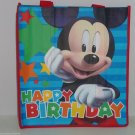 2 Disney Mickey Mouse Birthday Day Reusable Shopping Tote Bags Gift Bag