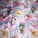 Purple Pink Satin Chihuahua Dog Toddler Quilt Heiress Born Rule Prince Blanket