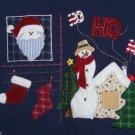 Christmas Sweatshirt Bobbie Brooks Navy Textured Fabric Ladies Size Small 4/6