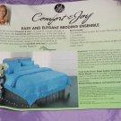 Joy Mangano Full Purple Comforter Pillowcases Shams Bolster Pillow & Cover New