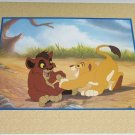 Disney Store Simba Pride Lithograph Gold Seal Lion King Picture Retired