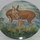 Deer Fawn Baby Collector Plate Reassuring Touch Wildlife Hicks Knowles Vintage