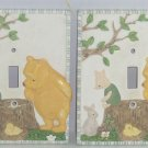 2 Disney Winnie Pooh Piglet Light Switchplate Kids Room Wall Decor Single