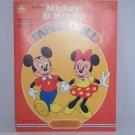 Walt Disney Productions Paper Dolls 1983 Mickey & Minnie Mouse Uncut Vintage