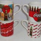 4 Coke Coca Cola Coffee Mug Mugs Cups Tea Gibson Bottle Cap 1997 Vintage