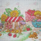 Strawberry Shortcake Twin Sheet Set Flat Fitted Pillow Case Fabric Craft Sewing