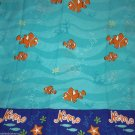 Disney Finding Nemo Twin Sheet Set Flat Fitted Pillow Case Fabric Craft Sewing