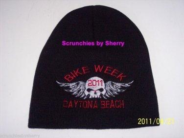 2011 Bike Week Daytona Beach Ski Beanie Knit Cap Hat Motorcycle