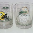 6 Green Bay Packers Collector Glasses Super Bowl XXXI Shell Vintage Retired NFL