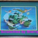 Disney Store Peter Pan Lithograph Framed Gold Seal Picture Photo Retired Vintage
