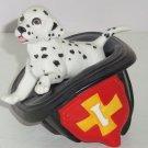 2 Fireman Hat Dalmatians Princeton Gallery 1990 Fine Porcelain 3 Tiny Dogs