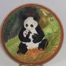 Panda Bear Collector Plate 3D Rock a Bye Vintage Bradford Exchange Will Nelson