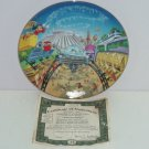 Walt Disney World Collector Plate 25th Anniversary Tomorrowland Bradford Retired