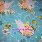 Disney Tinker Bell Blanket Aqua Hand Tied Fleece Baby Pet Lap Great Shower Gift