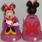 Disney Minnie Mouse Bank Coin Money Theme Parks Pink Red Polka Dot Dress New