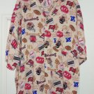 Tampa Bay Buccaneers Shirt Button Dress Casual Print Size XL Cream NFL Football