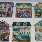 6 Disney Mickey Village Collector Plate Bradford Exchange Complete Set Retired