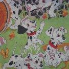 Disney 101 Dalmatians Twin Flat Sheet Vintage Craft Sewing Fabric Kids Puppies
