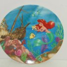 Walt Disney Little Mermaid Ariel Plate Collector Ocean Theme Park Vintage Japan