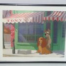 Disney Picture Lady Tramp Outside Tony's Framed Print Childs Room Vintage