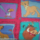 Disney Lion King Simba Twin Flat Sheet Craft Sewing Fabric Vintage