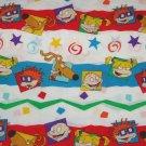 Rug Rats Twin Flat Sheet Craft Sewing Fabric Vintage Nick Jr