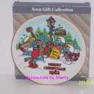 1982 Smurfs Plate Carolers Merry Christmas Collector Vintage Retired