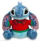 Disney Store Stitch Christmas Plush Toy Green Plaid  Shirt 2013 Retired