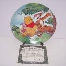 Disney Winnie Pooh Collector Plate Tree Top Trio Fun 100 Acre Woods Bradford Exc
