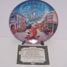 Walt Disney World Mickey Mouse Main Street USA 25th Anniversary Collector Plate