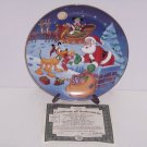 Disney Mickey Mouse Collector Plate Holiday Magic Thanks Pluto Bradford Retired
