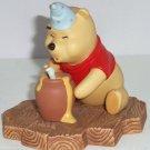 Disney Winnie Pooh Figurine Hip hip Poohray for Birthdays Hat Candle Hunny Pot