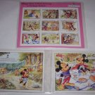 3 Disney Tales Uncle Scrooge Little Red Riding Hood Postage Stamps St Vincent
