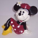 Disney Minnie Mouse Bank Sitting Ceramic Coin Money Enesco  Retired