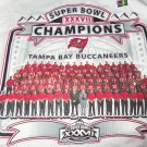 Tampa Bay Buccaneers Shirt Super Bowl 2002 Team Roster Picture NFL John Gruden
