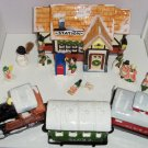 Dept 56 Train Station Snow Village 3 Piece Train Mailbox 8 Fitz Floyd Figurines
