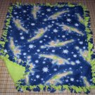 Disney Tinker Bell Fleece Blanket Fairies Blue Green Baby Pet Lap Shower Gift
